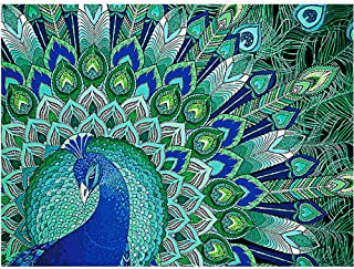 Green Peacock Shaped Drill 5D DIY Decor Diamond Painting,Pausseo Xmas Gift Drilling Drawing Accessories Cross Stitch Kits Embroidery Picture Rhinestone Pasted Home Decor for Adults or Kids - 30x40cm