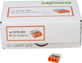 Kopp 33346421 WAGO COMPACT-verbindingsdoosklem 3-draads-klem oranje 0,5-2,5 mm2 inhoud 100 stuks, transparant