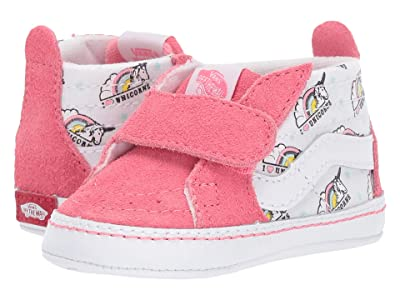 Vans Kids SK8-Hi Crib (Infant/Toddler) ((Unicorn) Strawberry Pink/True White) Girls Shoes