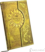RayLineDo Vintage Gloden Magic Book Diary Notebook Journal Notepad Hard Cover With Magnetic Clasp