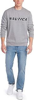 Nautica Men's Classic Fit Crewneck Logo Fleece Pullover Shirt