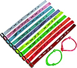 20 plus 2 WWJD Bracelets - What Would Jesus Do Woven Wristbands Per Pack - Religious Christian WWJD Bracelet for fundraisers Neon, Pastel Color, 20 pieces plus 2, Perfect for men women boys and girls