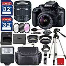 $345 » Canon EOS 4000D / Rebel T100 DSLR Camera with 18-55mm f/3.5-5.6 III Top Value Bundle with 64GB Memory, Flash, Case, Filter Kit and Much More