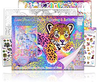 Lisa Frank Super Coloring and Activity Pad ~ Over 375 Colorful Stickers and Gems   40+ Giant Coloring and Activity Pages a...