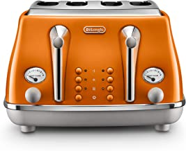 De'Longhi Icona Capitals 4 Slice Toaster, Rome Orange, CTOC4003O