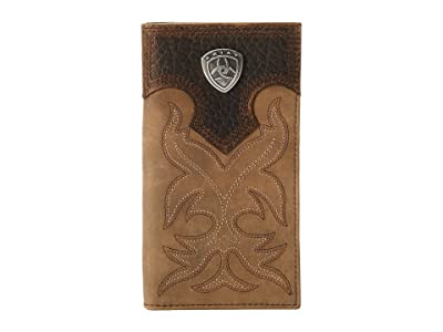 Ariat Ariat Shield Boot Stitch Rodeo Wallet (Medium Distressed Brown) Wallet Handbags