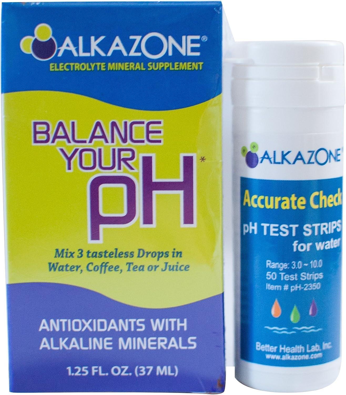 Alkaline Finally resale start Water Drops with Ph Test Strips Bundle Alkazone Antio Mail order -