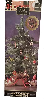 FAO Schwarz Miniature Holiday Ornament and Tree Set