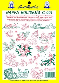 Aunt Martha's Aunt Martha'a Iron-On Transfer Collection-Happy Holidays, Other, Multicoloured