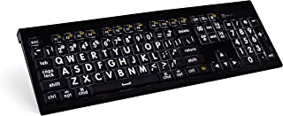 Logickeyboard XLargeprint White on Black keyboard compatible with ASTRA Mac Backlit -Part Number: LKBU-LPWB-AMBH-US