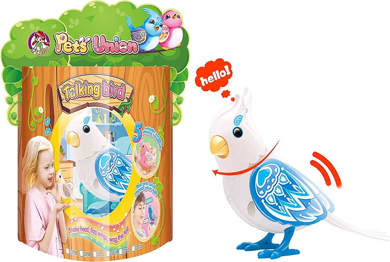 Free Shipping New LELIA Chirping Toy Bird Singing Head Max 78% OFF Turn Moving Mouth Flap