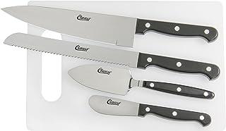 Clauss 18633 Juego de 5 piezas para sala de descanso, incluye cuchillo y tabla de cortar, para cocina de oficina