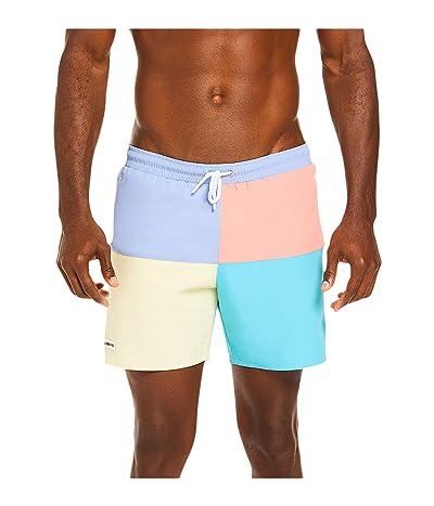 Lacoste Color-Block Swim Trunks with Front Multicolor Lacoste Bagde Summer (Purpy/Clusi/Elf Pink/Cicer) Men
