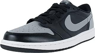 Men's Air Jordan I 1 Retro Low OG Black/Medium Grey-Sail 705329-003 Shoe 10.5 M US