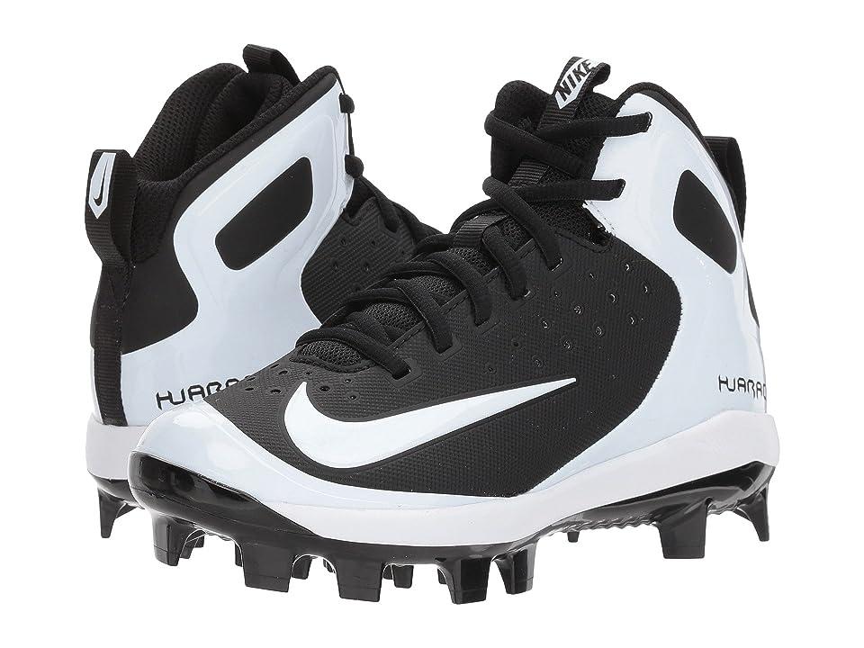 Nike Kids Alpha Huarache Pro Mid MCS BG (Toddler/Little Kid/Big Kid) (Black/White/White) Kids Shoes