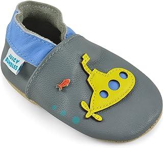 ab06d974234 Zapatos Bebe Niña Niño – Zapatillas de Cuero – Patucos de Piel con Elástico  para Bebé