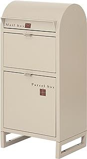 ヤマソロ 玄関小物 アイボリー 幅45×奥行32×高さ92cm ネビル 宅配BOX付き 73-830
