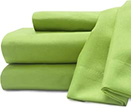 Baltic Linen Soft and Cozy Microfiber Sheet Set Twin X-Large Lime 3-Piece Set