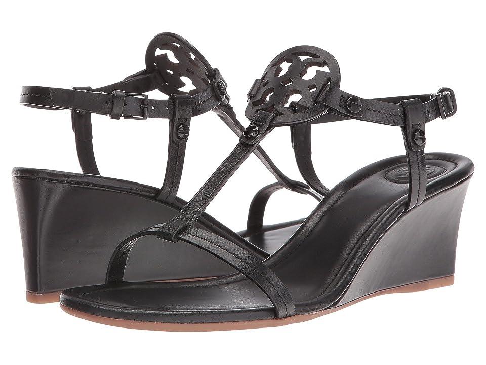 Tory Burch Miller 60mm Wedge Sandal (Black) Women