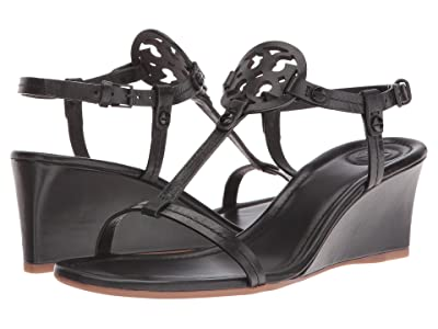 Tory Burch Miller 60mm Wedge Sandal (Black) Women