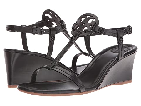 e4eebb05b8d1 Tory Burch Miller 60mm Wedge Sandal at Zappos.com
