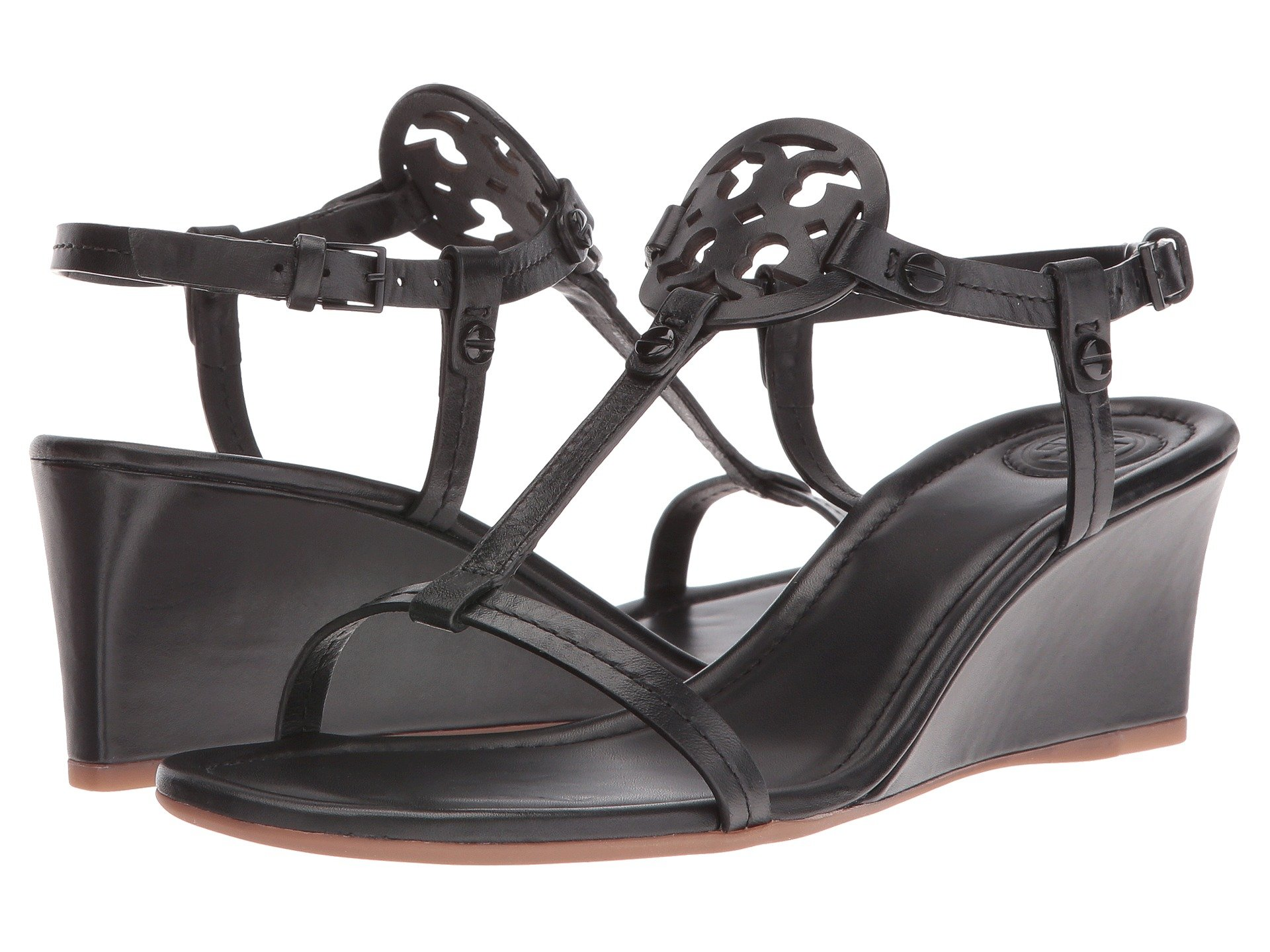 Tory Burch Miller 60mm Wedge Sandal At Zappos Com