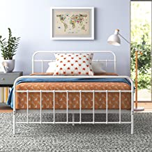Zinus Double Bed Frame White Metal Base Mattress Support Bedroom Furniture | Florence Bed