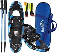 Gpeng 4-in-1 Xtreme Lightweight Terrain Snowshoes for Men Women Youth Kids, Light Weight Aluminum Alloy Terrain Snow Shoes...