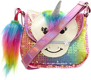 801d1a07b4 Claire's Club Girl's Claire's Club Starbright the Unicorn Rainbow Unicorn  Sequin Purse - S