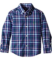 Polo Ralph Lauren Kids - Poplin Plaid Long Sleeve Button Down Shirt (Toddler)