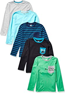 Spotted Zebra 5-Pack Long-Sleeve T-Shirts Niños, Pack de 5
