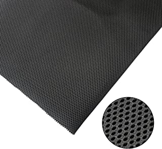 """KISSTAKER Speaker Cloth Stereo Grill Fabric Mesh Replacement for Car Audio,Stage Speakers and KTV Boxes Repair Black 57""""x19.7""""-Recover Your Speaker-Customized Service Available"""