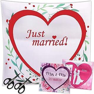 LionSports Festliches Hochzeitsherz zum Ausschneiden  Perfektes Hochzeitsspiel für eine traumhafte Hochzeit  Geschenk  Komplimente zum Verschenken  Dieser Hochzeitstag Wird unvergesslich
