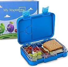 BPA Frei Aenamer/® Lunchbox Edelstahl Brotdose Auslaufsicher Bento Box aus Edelstahl mit 4 Festen F/ächern Sp/ülmaschinenfest Brotdose mit L/öffel und Gabel f/ür Kinder Erwachsene