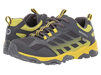 Merrell Kids Moab Low A/C Waterproof (Little Kid/Big Kid) (Grey/Yellow) Boys Shoes
