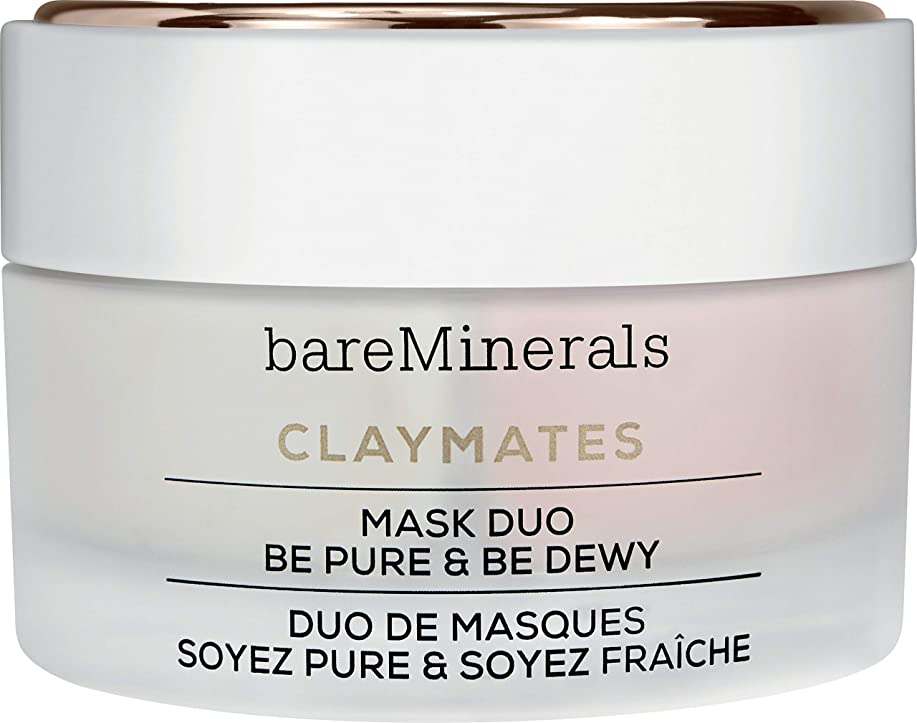 慰め中世の昆虫ベアミネラル Claymates Be Pure & Be Dewy Mask Duo 58g/2.04oz並行輸入品
