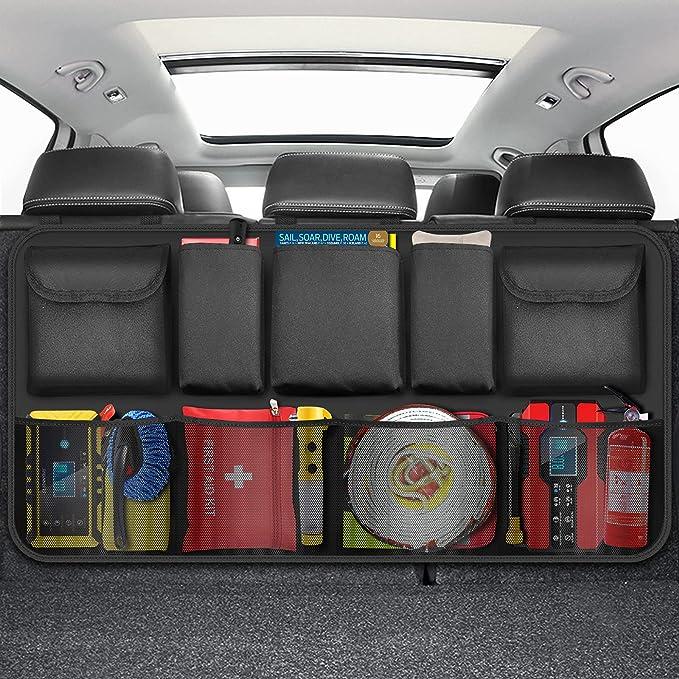 60 opinioni per ZOVHYYA Organizer Bagagliaio Auto Organizer Bagagliaio 9 tasche contenitori