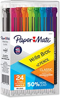 Paper Mate Mechanical Pencils, Write Bros. Classic #2 Pencil, Great for Standardized..