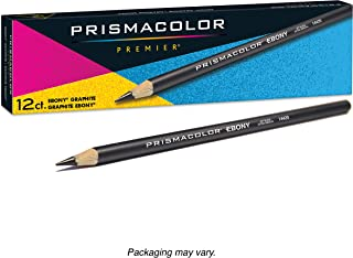 Prismacolor Premier Ebony Graphite Sketching Pencil, 美国三幅彩色铅笔黑色 Jet Black, Extra Smooth, 14420