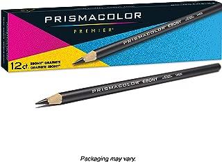 Prismacolor Premier 乌木石墨素描铅笔 美国三幅彩色铅笔黑色12支装