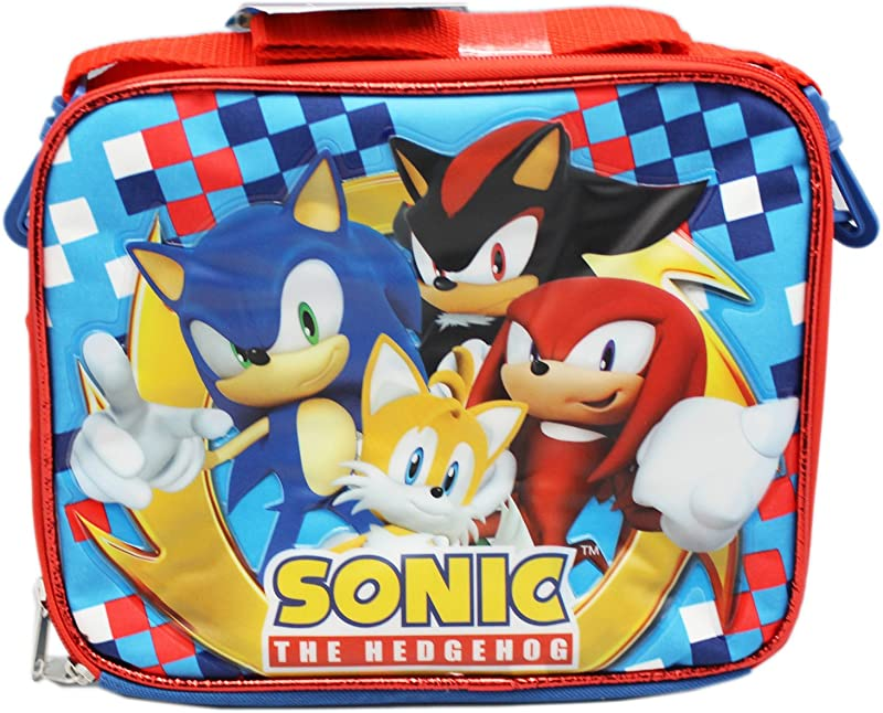 New Sonic Shadow Tails Knuckles Lunch Bag Lunch Box 36295