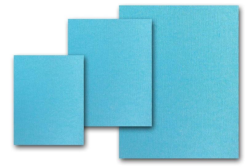 Premium Pearlized Metallic Textured Splash Blue Card Stock 80 Sheets - Matches Martha Stewart Splash - Great for Scrapbooking, Crafts, Flat Cards, DIY Projects, Etc. (5 x 7)
