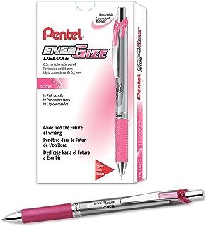 Pentel EnerGize Mechanical Pencil (0.5mm) Pink Accents, Box of 12 (PL75P)