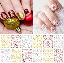 snowflake nail art decals