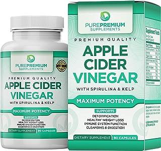Premium Apple Cider Vinegar Capsules by PurePremium (Maximum Strength) ACV Pills – Healthy Digestion, Energy, and Immune System - 90 Caps