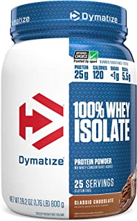 Dymatize 100% Whey Isolate Protein Powder, Fast Digestion & Absorption, Low Sugar & Low Calorie, Banned Substance Free, Classic Chocolate, 1.7 Pounds
