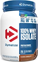 Dymatize 100% Whey Isolate Protein Powder, Fast Digestion & Absorption, Low Sugar & Low Calorie, Banned Substance Free, Cl...