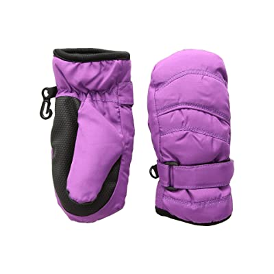 Tundra Boots Kids Nylon Mittens (Purple) Extreme Cold Weather Gloves