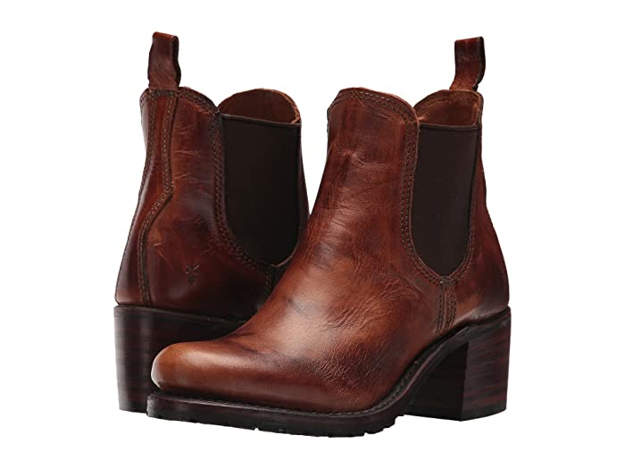 Frye Sabrina Chelsea (Cognac Oil Tanned Full Grain) Women's Pull-on Boots