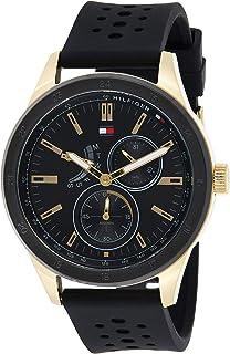 Tommy Hilfiger Men'S Black Dial Black Silicone Watch - 1791636